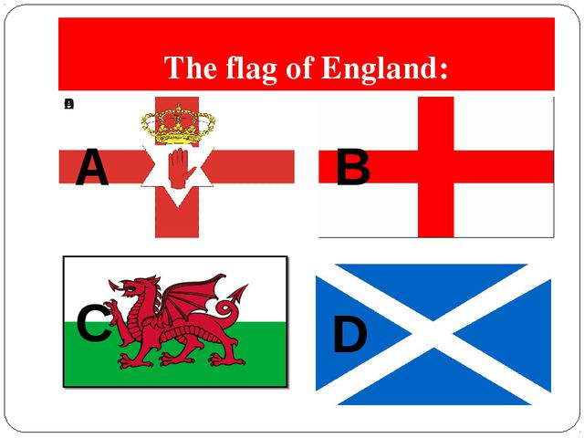The flag of England: