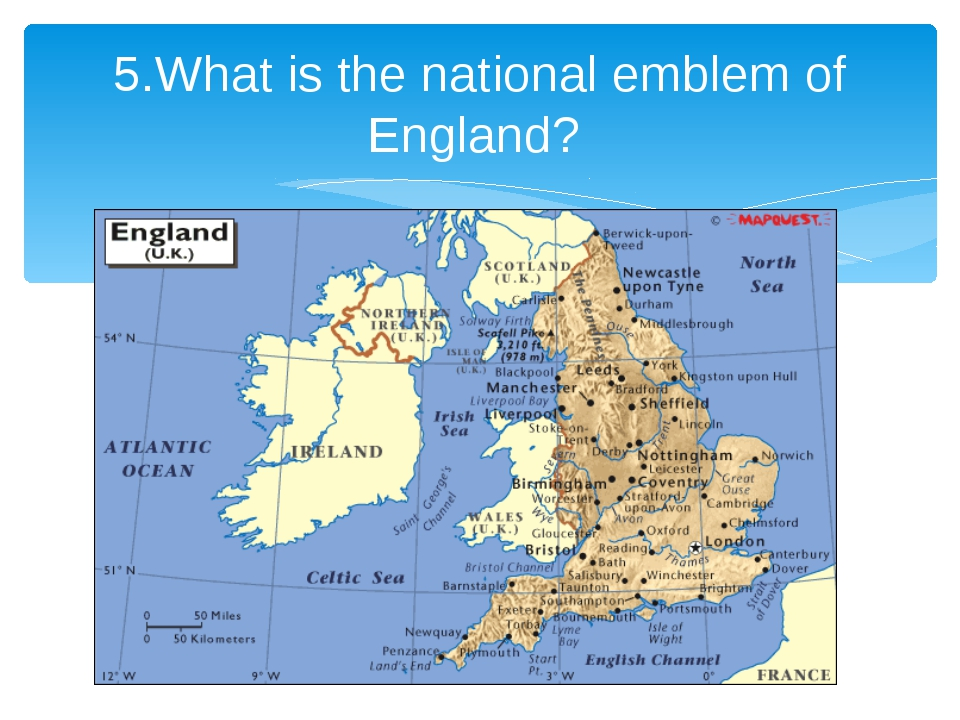 5.What is the national emblem of England?
