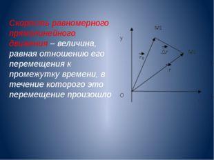 Скорость равномерного прямолинейного движения – величина, равная отношению ег