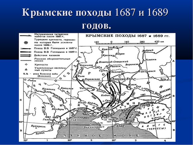 Крымские походы 1687и1689 годов.