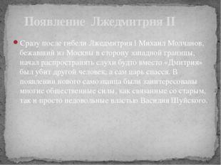 Сразу после гибели Лжедмитрия I Михаил Молчанов, бежавший из Москвы в сторону