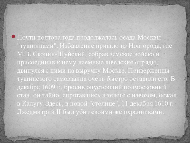 """Почти полтора года продолжалась осада Москвы """"тушинцами"""". Избавление пришло и..."""