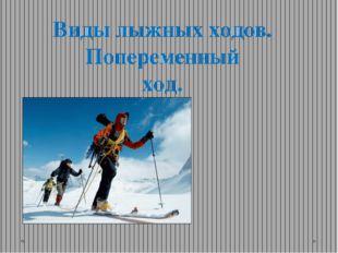 Виды лыжных ходов. Попеременный ход.