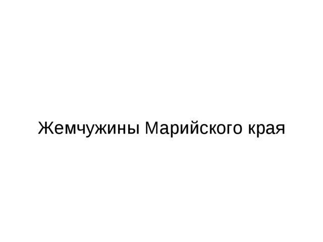 Жемчужины Марийского края