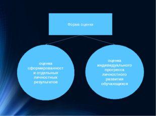 Форма оценки оценка сформированности отдельных личностных результатов оценка