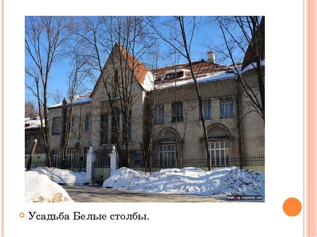Усадьба Белые столбы.