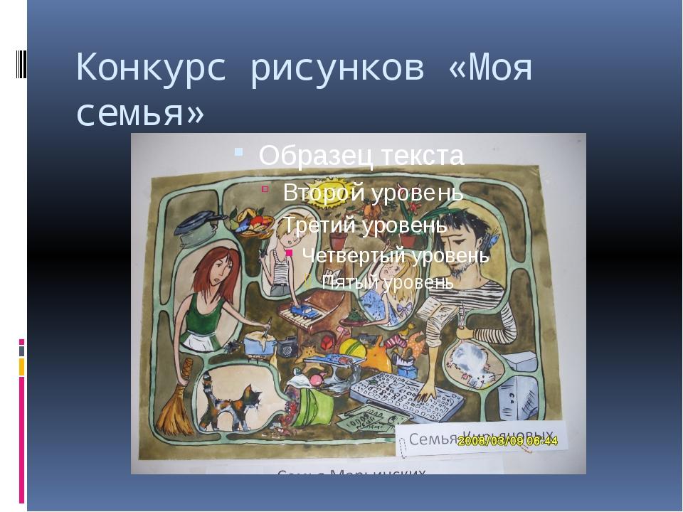 Конкурс рисунков «Моя семья»