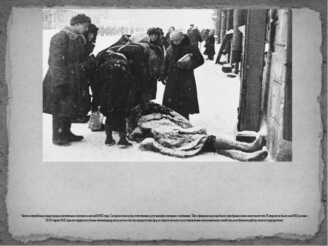 Число смертей на улицах города значительно снизилось весной 1942 года. Сыгра...
