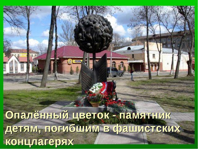 Опалённый цветок - памятник детям, погибшим в фашистских концлагерях