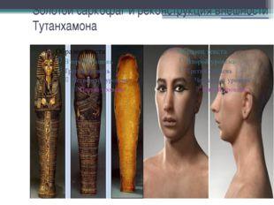 Золотой саркофаг и реконструкция внешности Тутанхамона