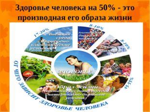 Здоровье человека на 50% - это производная его образа жизни.