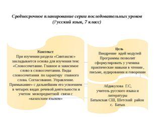 Контекст При изучении раздела «Синтаксис» закладывается основа для изучени