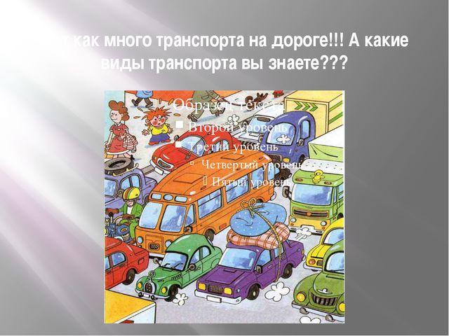 Вот как много транспорта на дороге!!! А какие виды транспорта вы знаете???