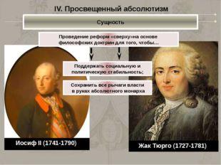 Жак Тюрго (1727-1781) Проведение реформ «сверху»на основе философских доктрин
