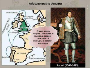 Генрих VIII (1491-1547) Елизавета I (1558-1603) Яков I (1566-1625) Я муж, а в