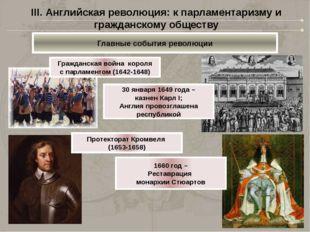 III. Английская революция: к парламентаризму и гражданскому обществу Главные