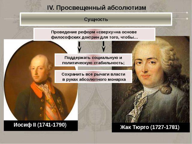 Жак Тюрго (1727-1781) Проведение реформ «сверху»на основе философских доктрин...