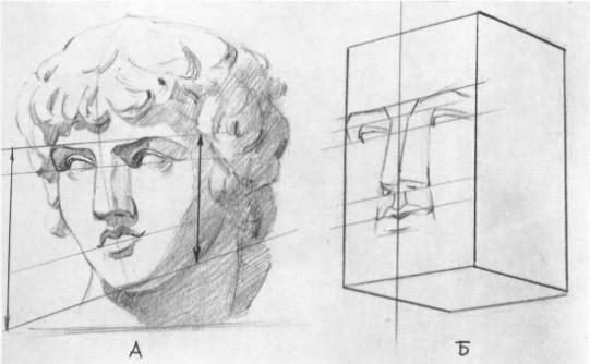 Рисунок головы в обратной перспективе