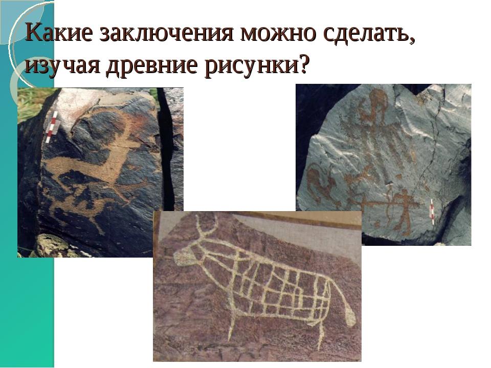 Какие заключения можно сделать, изучая древние рисунки?