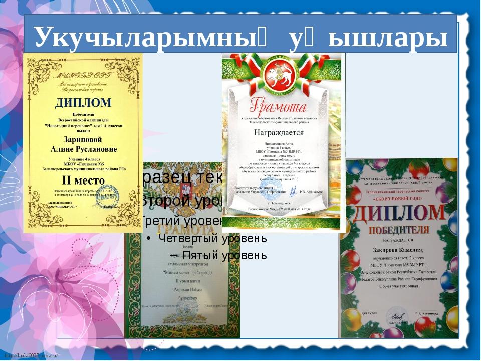 Укучыларымның уңышлары http://linda6035.ucoz.ru/