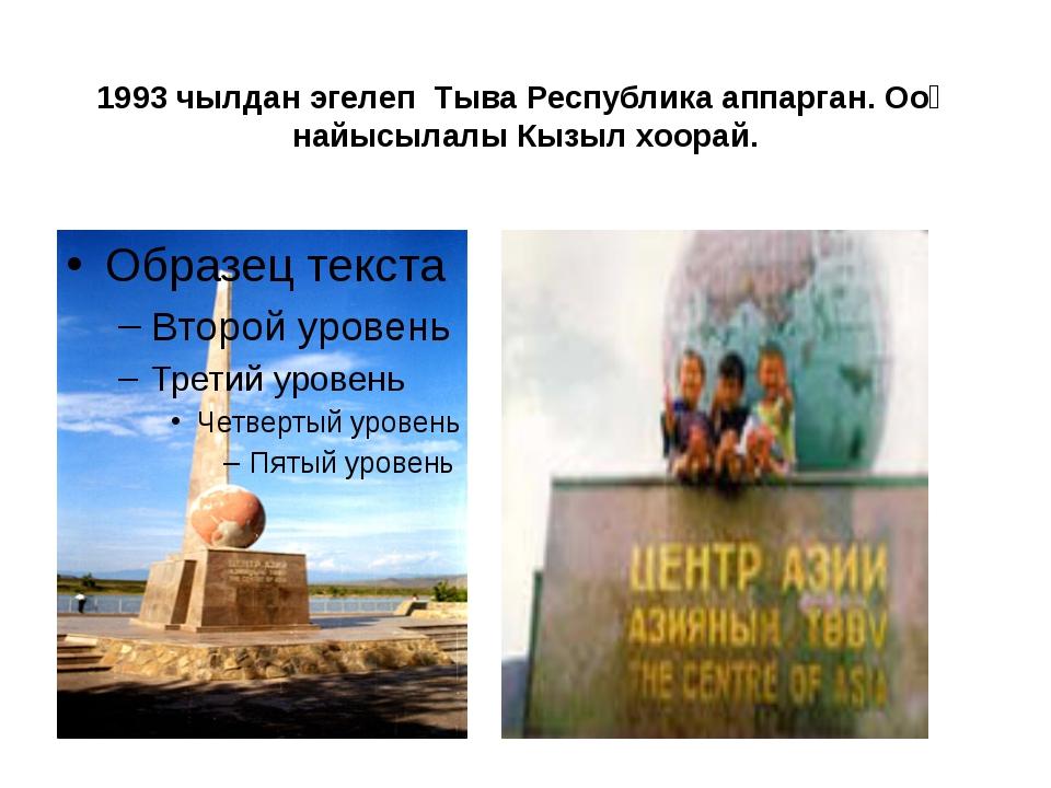 1993 чылдан эгелеп Тыва Республика аппарган. Ооң найысылалы Кызыл хоорай.