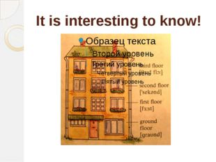 It is interesting to know!