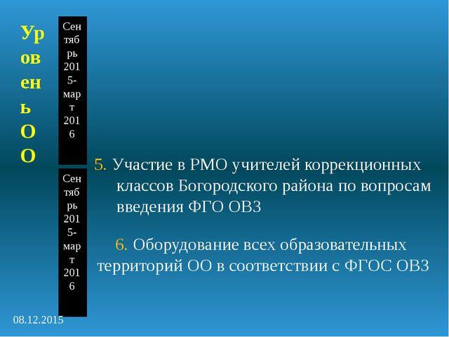 5. Участие в РМО учителей коррекционных классов Богородского района по вопрос...