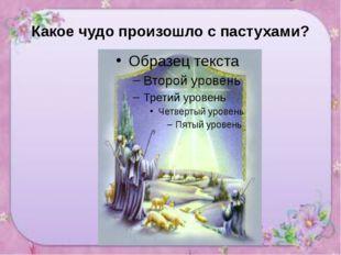 Какое чудо произошло с пастухами?