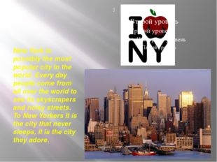 New York is possibly the most popular city in the world. Every day people co