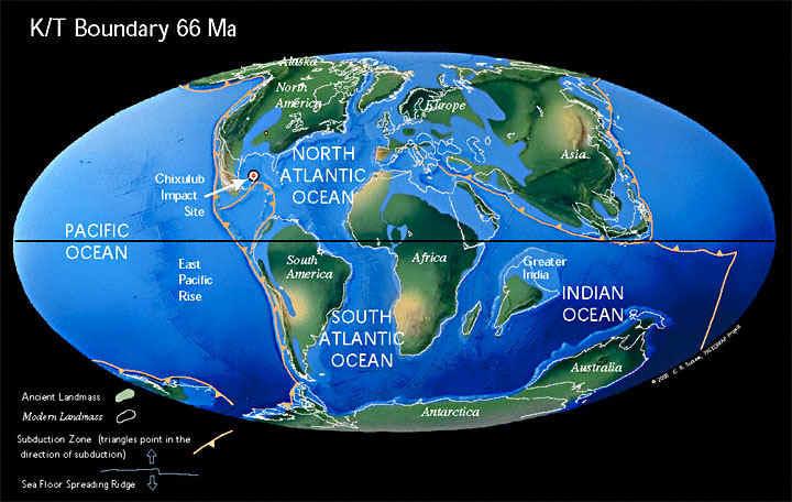 Земля, 66 миллионов лет назад