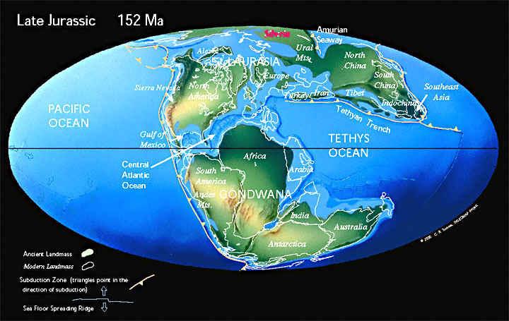 Земля, 152 миллионов лет назад