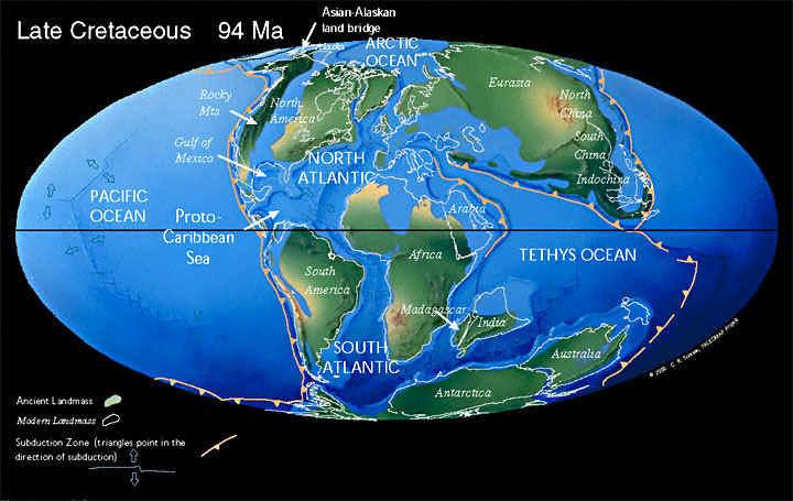 Земля, 94 миллионов лет назад