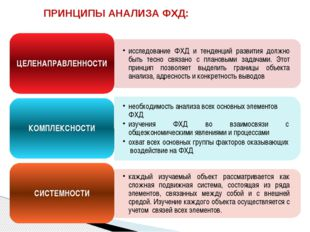ПРИНЦИПЫ АНАЛИЗА ФХД: