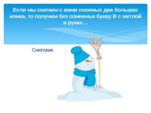 Снеговик Если мы скатаем с вами снежных два больших комка, то получим без сом