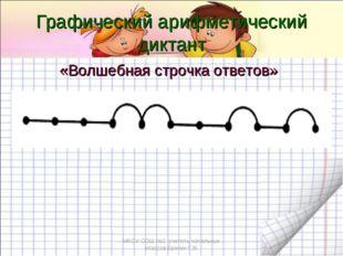 «Волшебная строчка ответов» Графический арифметический диктант МКОУ СОШ №2 уч