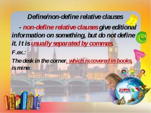Define/non-define relative clauses - non-define relative clauses give editio