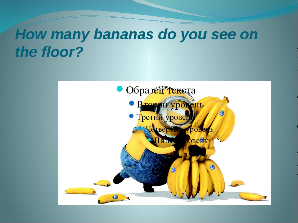 How many bananas do you see on the floor?