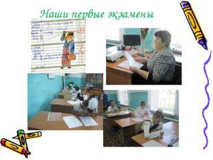 Наши первые экзамены