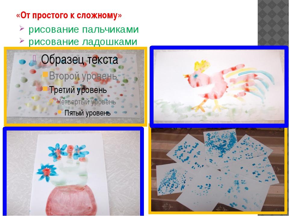 «От простого к сложному» рисование пальчиками рисование ладошками