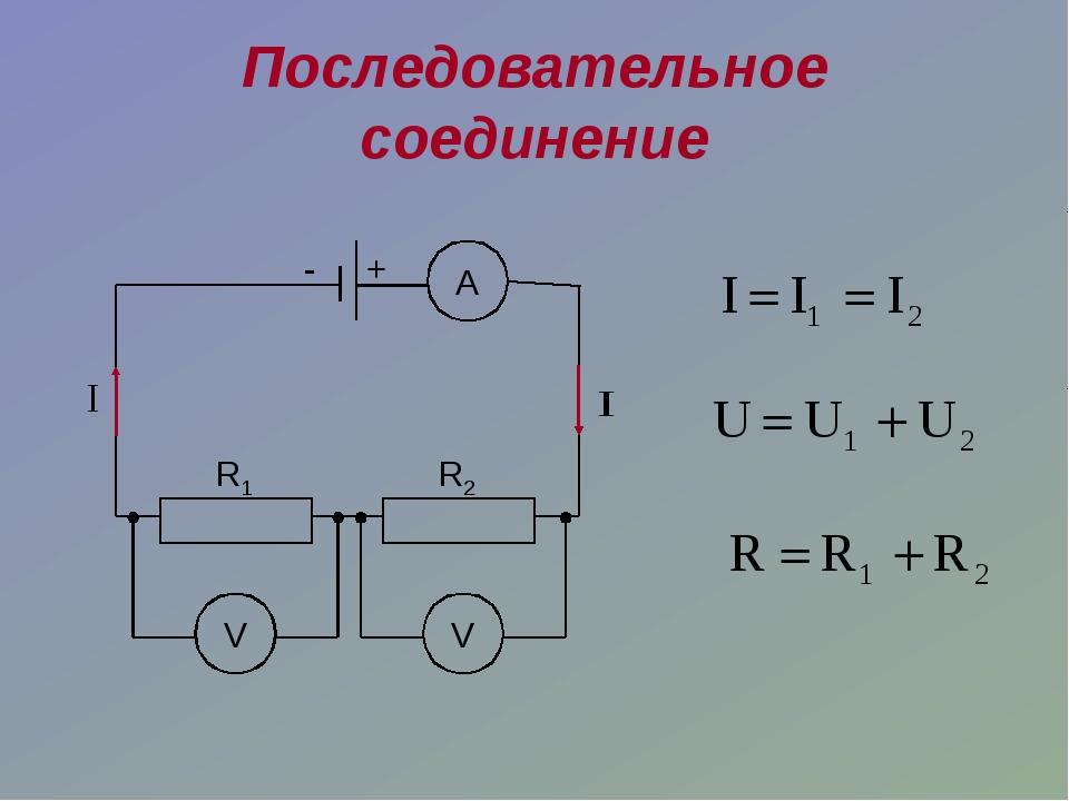 Последовательное соединение R1 R2 А