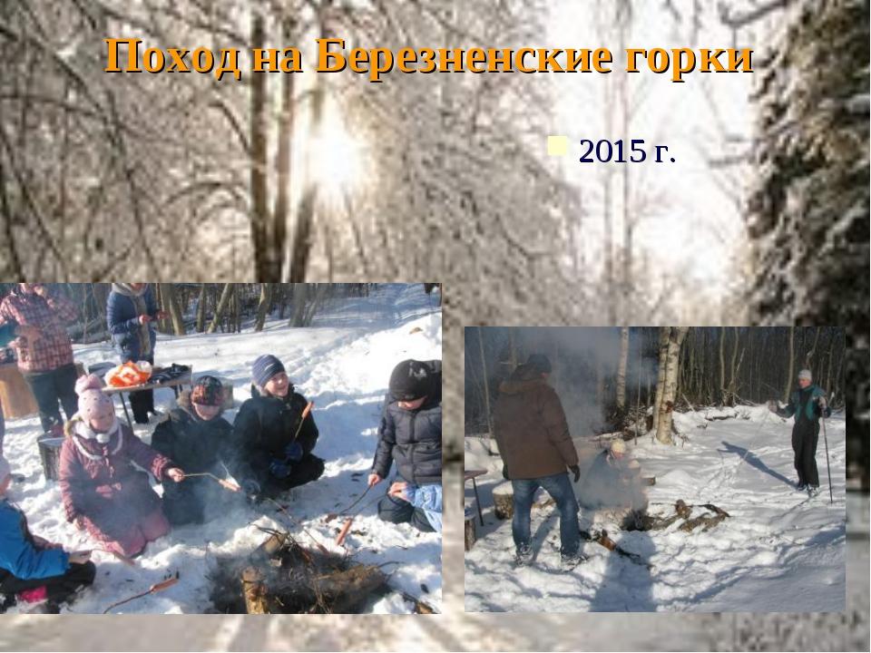 Поход на Березненские горки 2015 г.