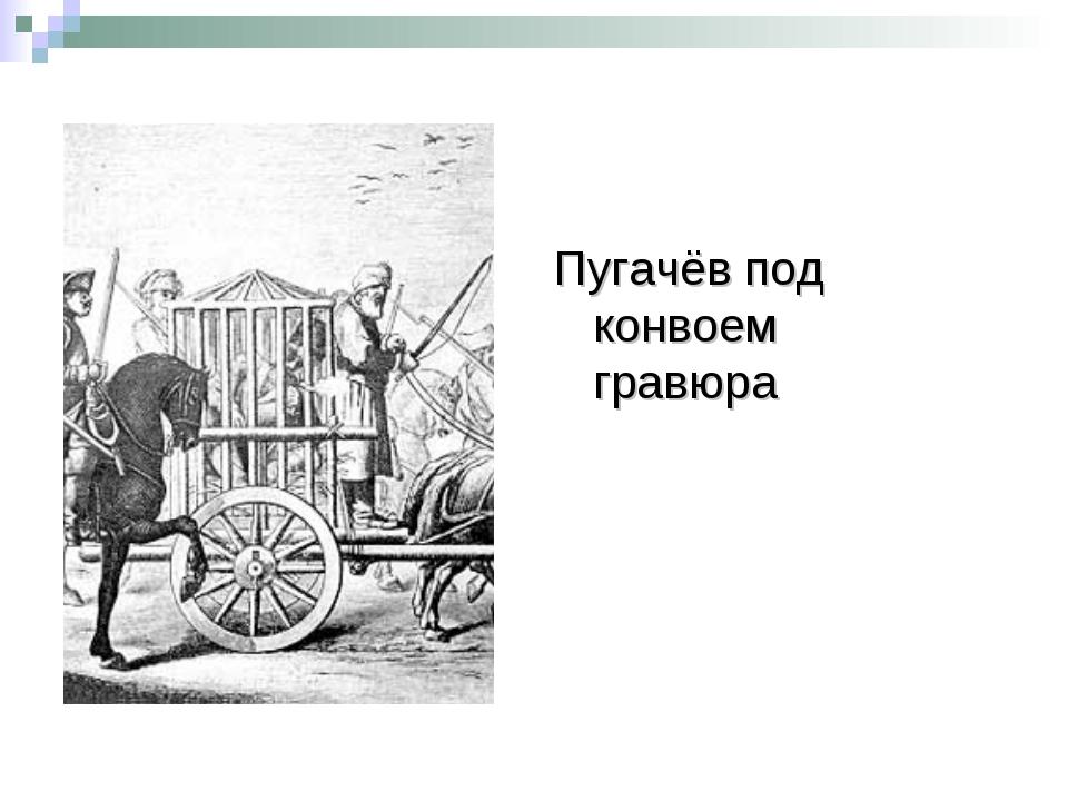 Пугачёв под конвоем гравюра