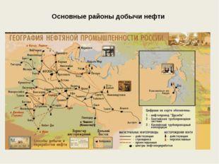 Основные районы добычи нефти