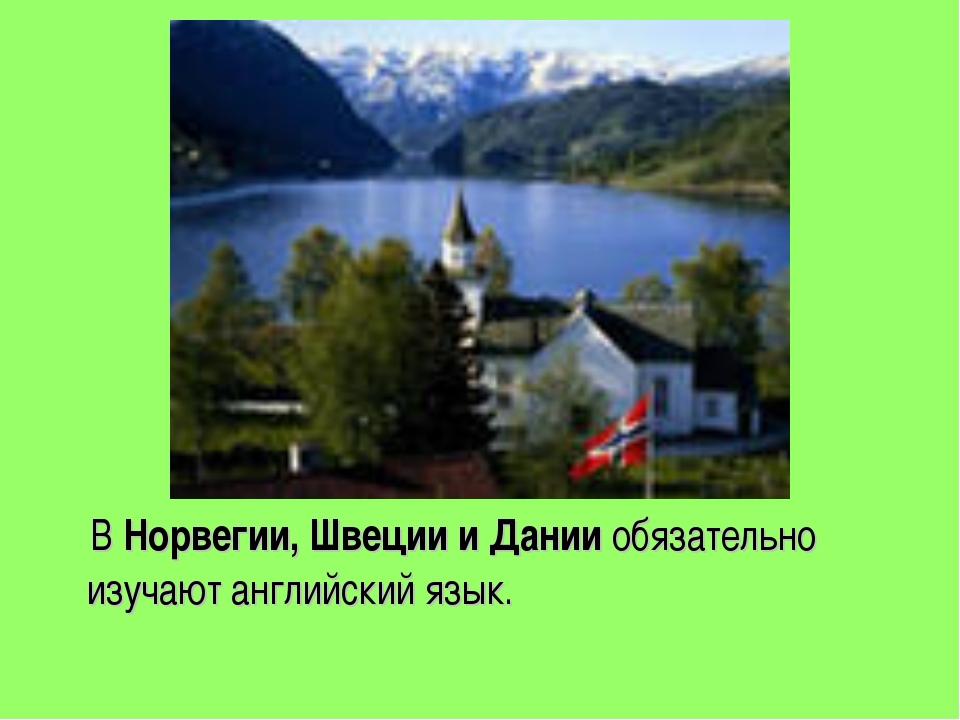 В Норвегии, Швеции и Дании обязательно изучают английский язык.