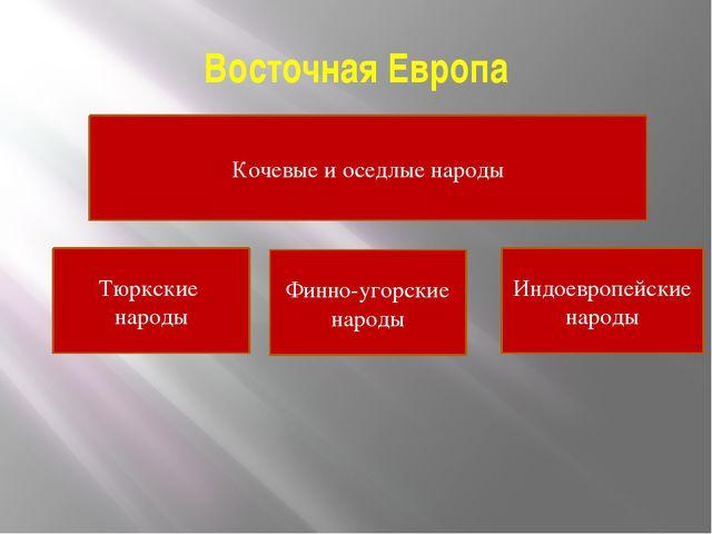 Восточная Европа Кочевые и оседлые народы Индоевропейские народы Финно-угорск...