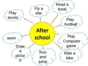 Play tennis Fly a kite Read a book Play football Play Computer game Ride a bi