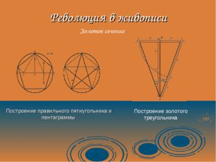 Революция в живописи Построение правильного пятиугольника и пентаграммы Постр
