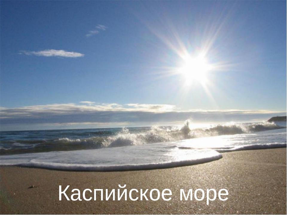 Самое большое озеро на земле….. Каспийское море