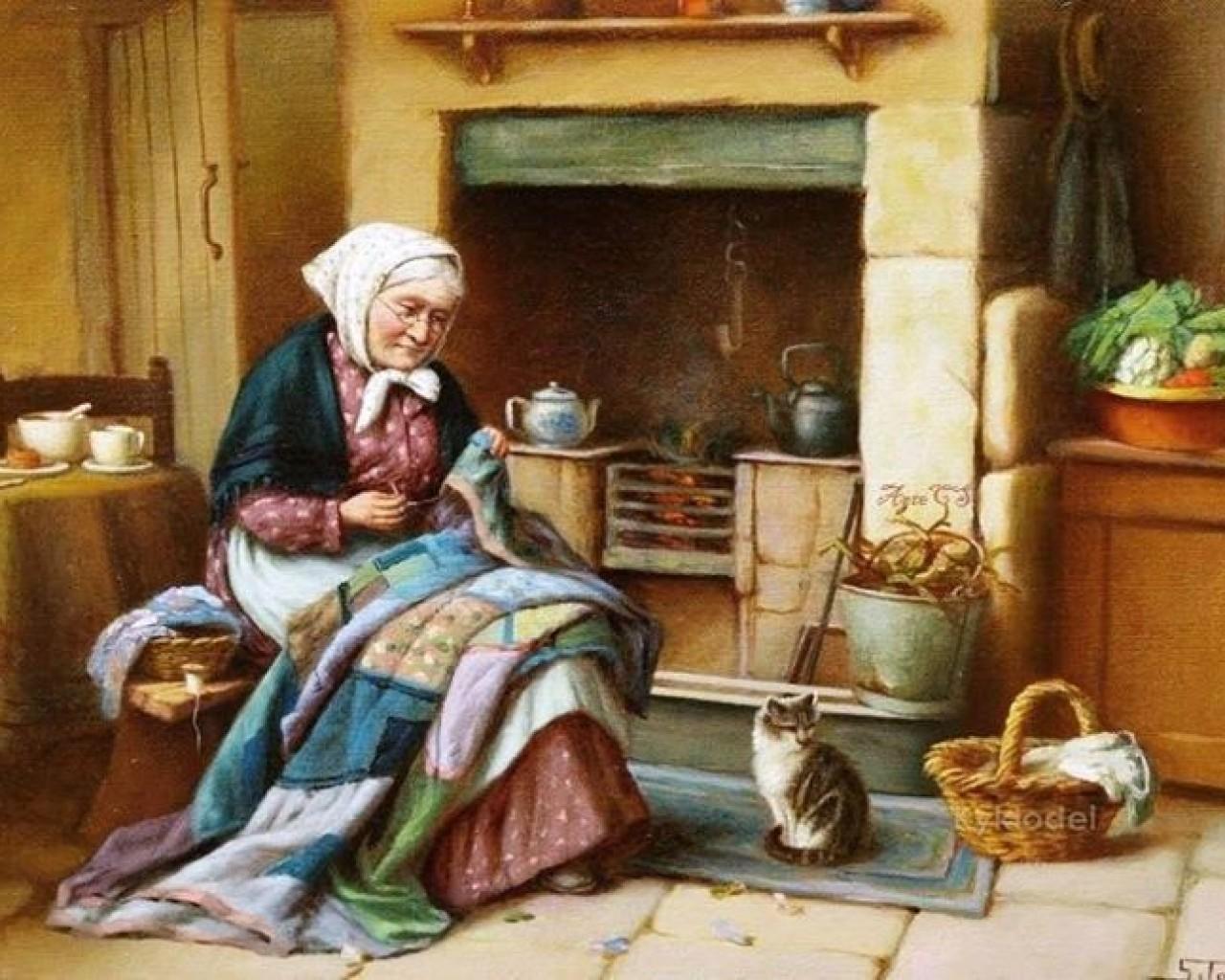 E:\Декада 15.12.2015г\Для урока\Картинки на печать\grandmother_lovely_house_knitting_cat_stove_hd-wallpaper-1563317.jpg