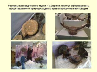 Ресурсы краеведческого музея г. Сызрани помогут сформировать представление о